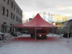 Демонстрационная сборка шатра Капелла